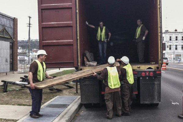 Shipping Container - Unloading