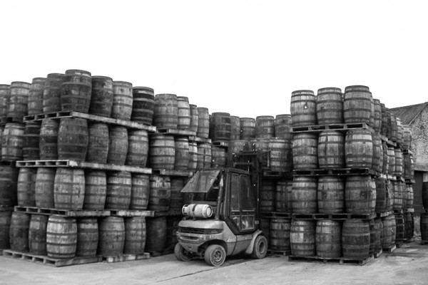 Selection of Casks at the Distillery