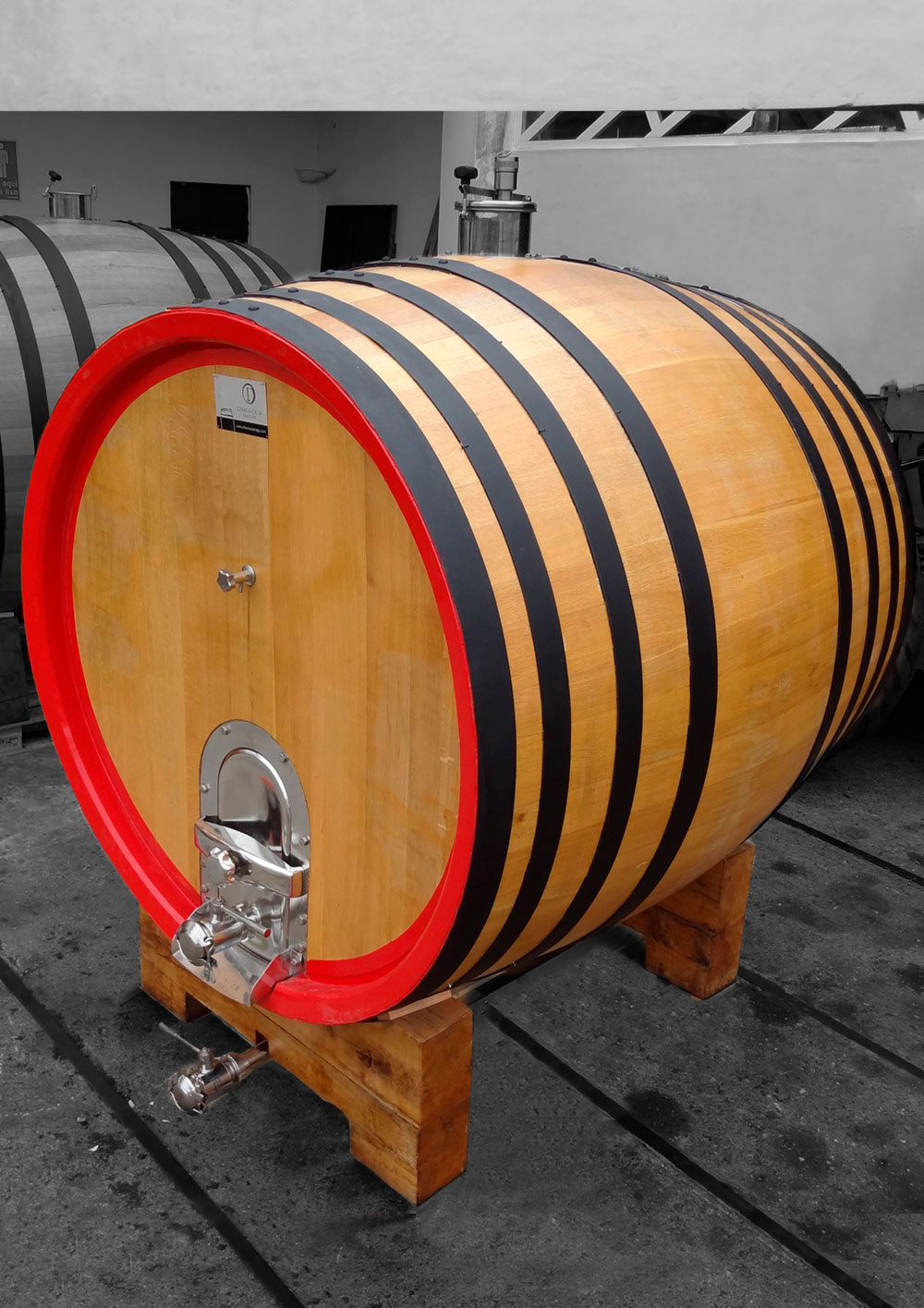 20hl French oak round cask